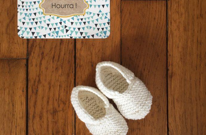 chausson bébé tricot facile rapide