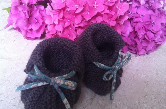Chaussons faciles au tricot