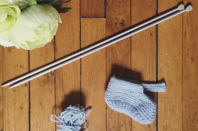Chausson tricot facile cadeau de naissance